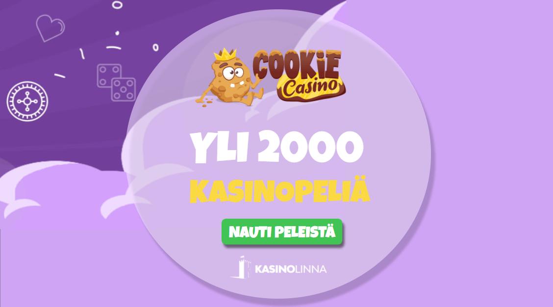 Tuhansia pelejä tarjoava Cookie Casino